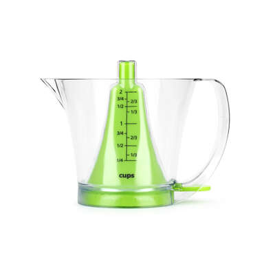 Urban Trend Reverso 2 Cups Plastic Clear Measuring Cup Ace Hardware