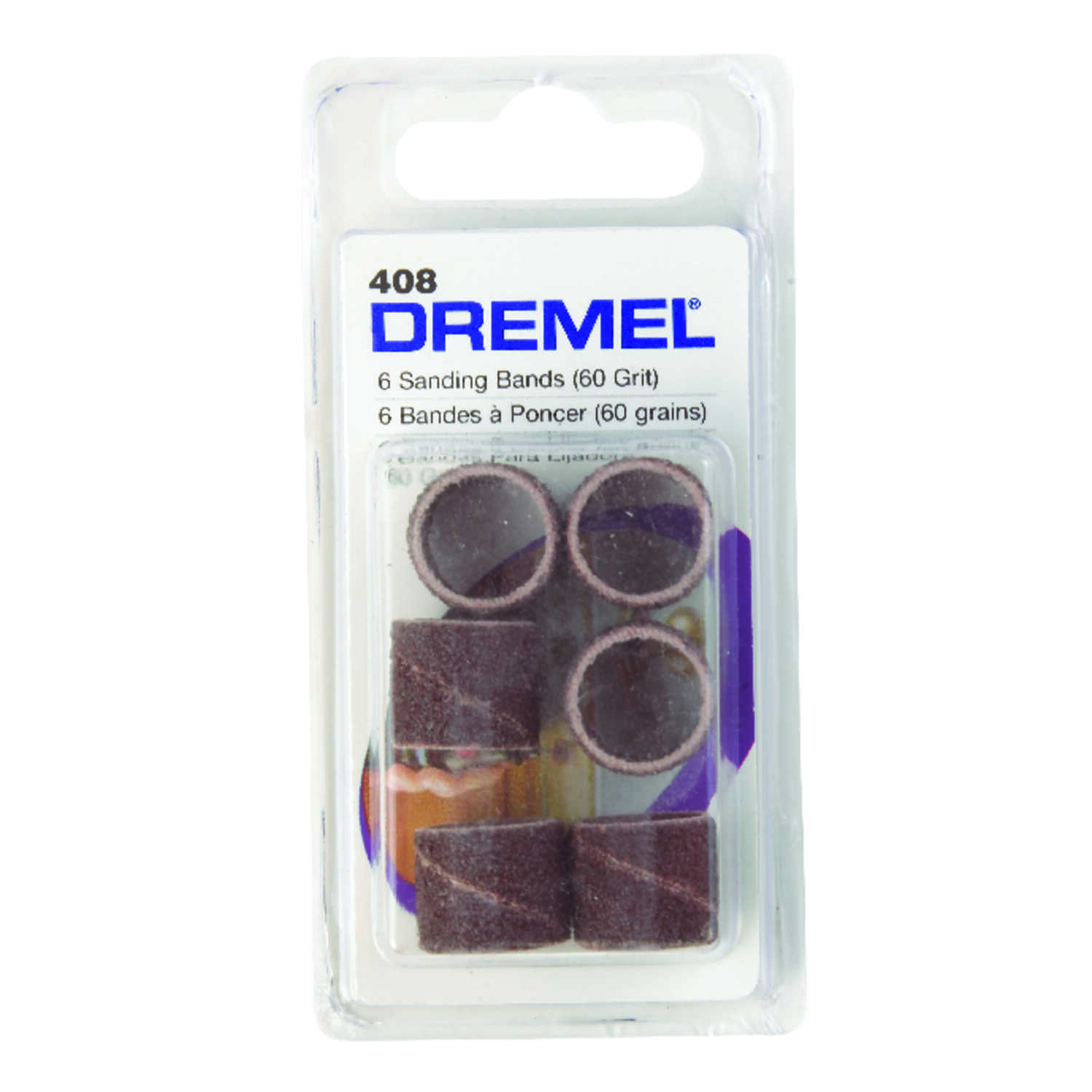 Dremel  0.5 in. Dia. x 1/2 in. L Emery  Drum Sander Bands  60 Grit Coarse  6 pc.
