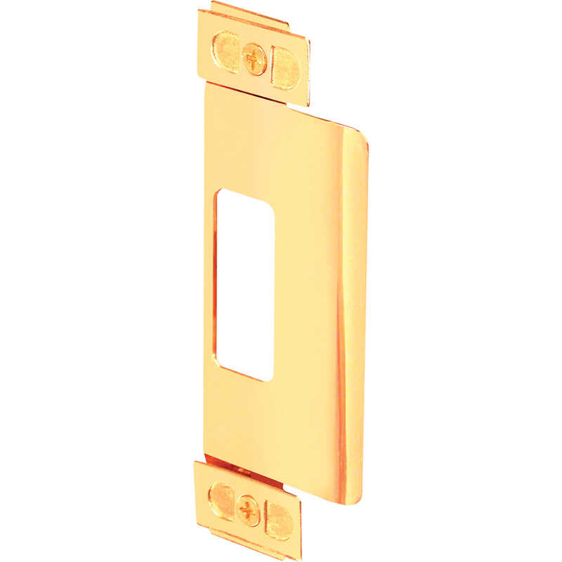 Prime-Line  4.75 in. H x 1.25 in. L Brass Plated  Steel  Door Strike