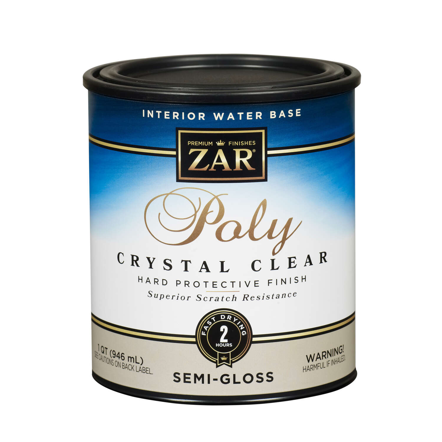 ZAR  Semi-Gloss  Clear  Water Based Polyurethane  1 qt.