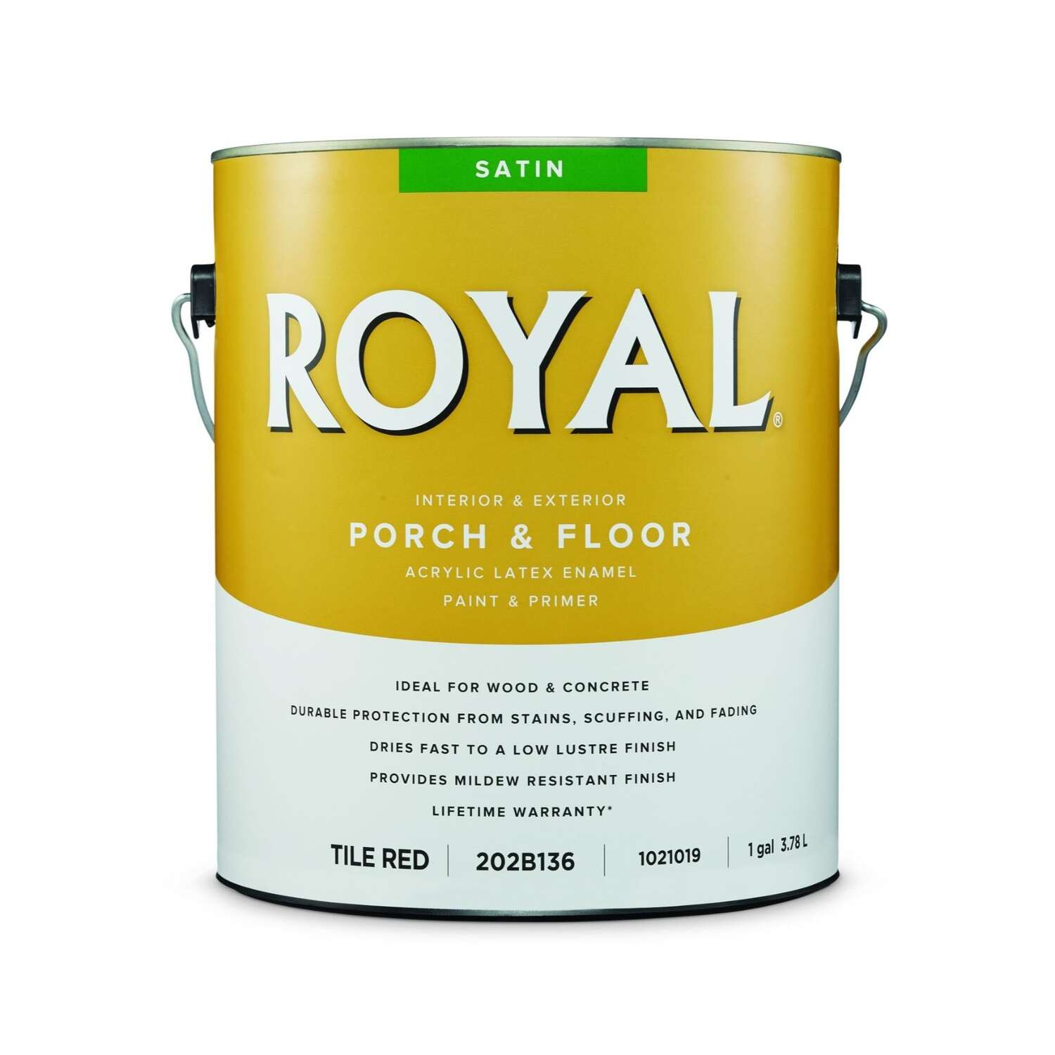 Royal  Satin  Tile Red  Porch & Floor Paint  1 gal.