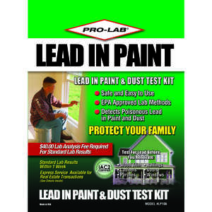 Pro-Lab  Lead in Paint & Dust Test Kit