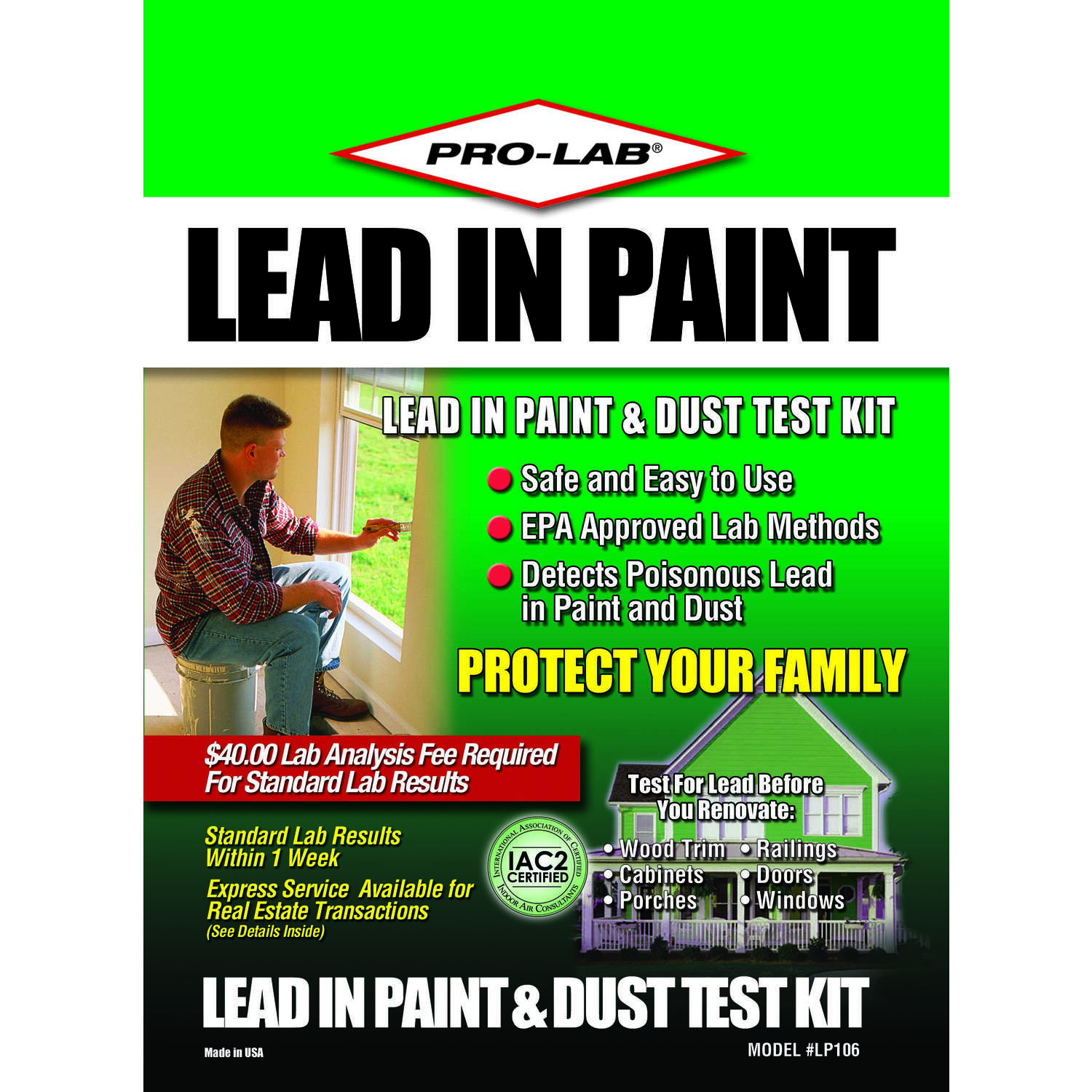 Pro-Lab  Lead in Paint & Dust Test Kit  1 pk