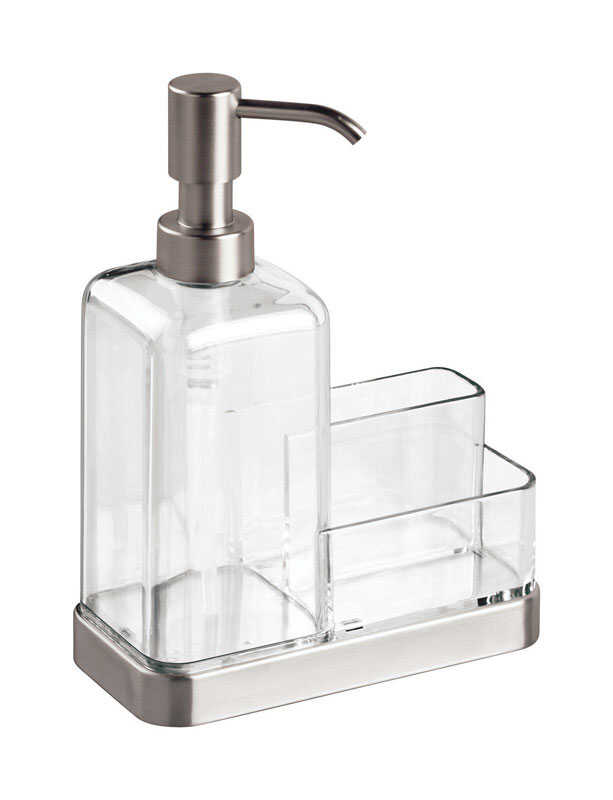 InterDesign  Forma  Soap Dispenser  8 in. H x 3 in. W x 6 in. L Clear  PVC