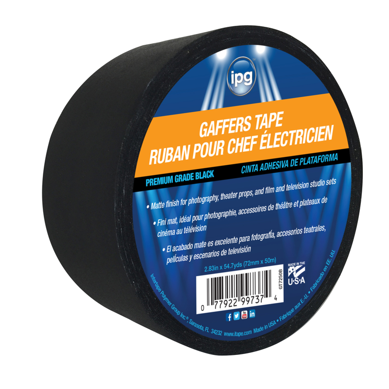 IPG  54.7 yd. L x 2.83 in. W Black  Gaffer's Tape
