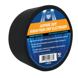 IPG  2.83 in. W x 54.7 yd. L Black  Gaffer's Tape
