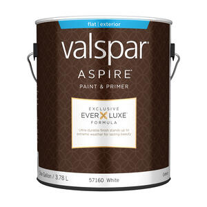Valspar  Aspire  Flat  Basic White  Acrylic Latex  Paint and Primer  1 gal.