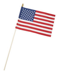 Valley Forge American Stick Flag 8 in. H x 12 in. W