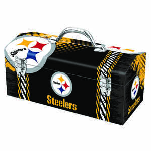 Windco  16.25 in. Steel  Pittsburgh Steelers  Art Deco Tool Box  7.1 in. W x 7.75 in. H
