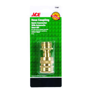 Ace  Brass  Threaded  Male/Female  Quick Connector Coupling