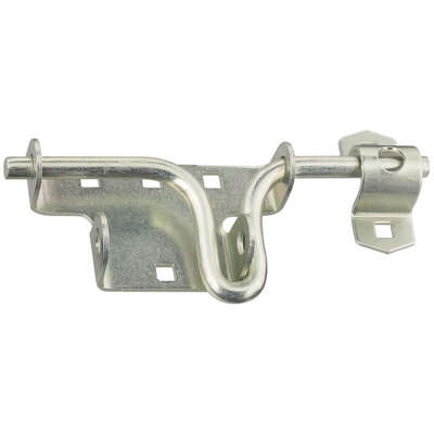 National Hardware 6.19 in. H Zinc-Plated Silver Steel Sliding Bolt Door/Gate Latch