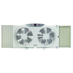 Lasko  10.23 in. H x 9 in. Dia. 3 speed Electronically Reversible Twin Window Fan