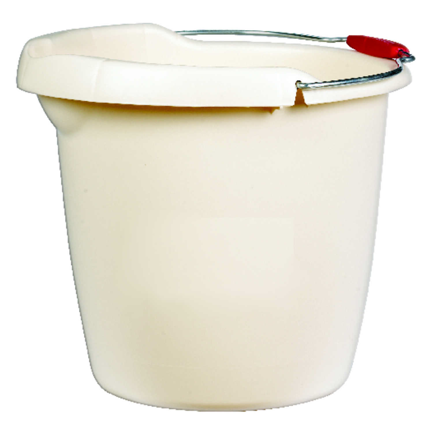 Rubbermaid  15 qt. Single Spout Bucket  Bisque