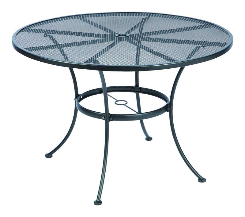 Living Accents  Black  Round  Dining Table