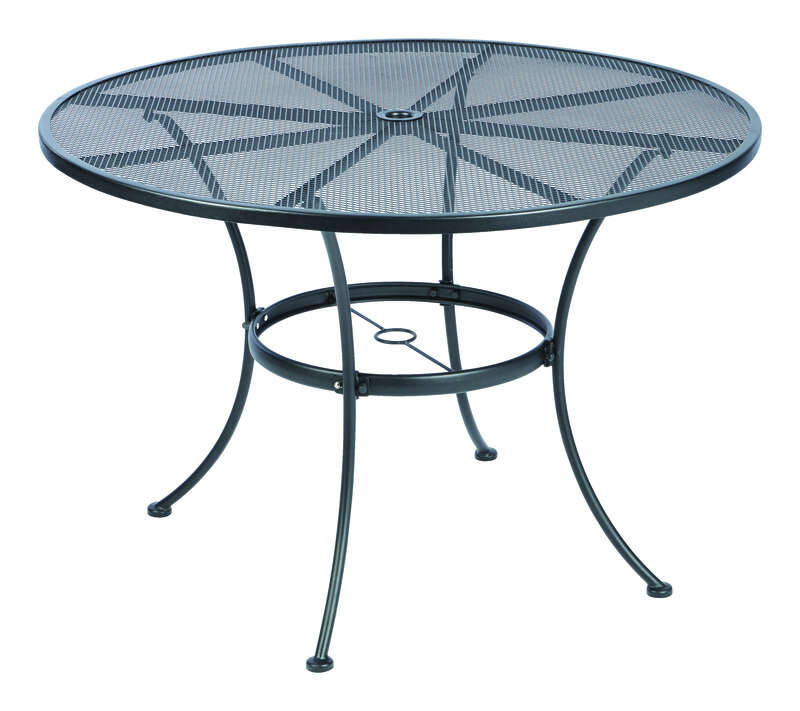 Living Accents  Winston  Round  Black  Table