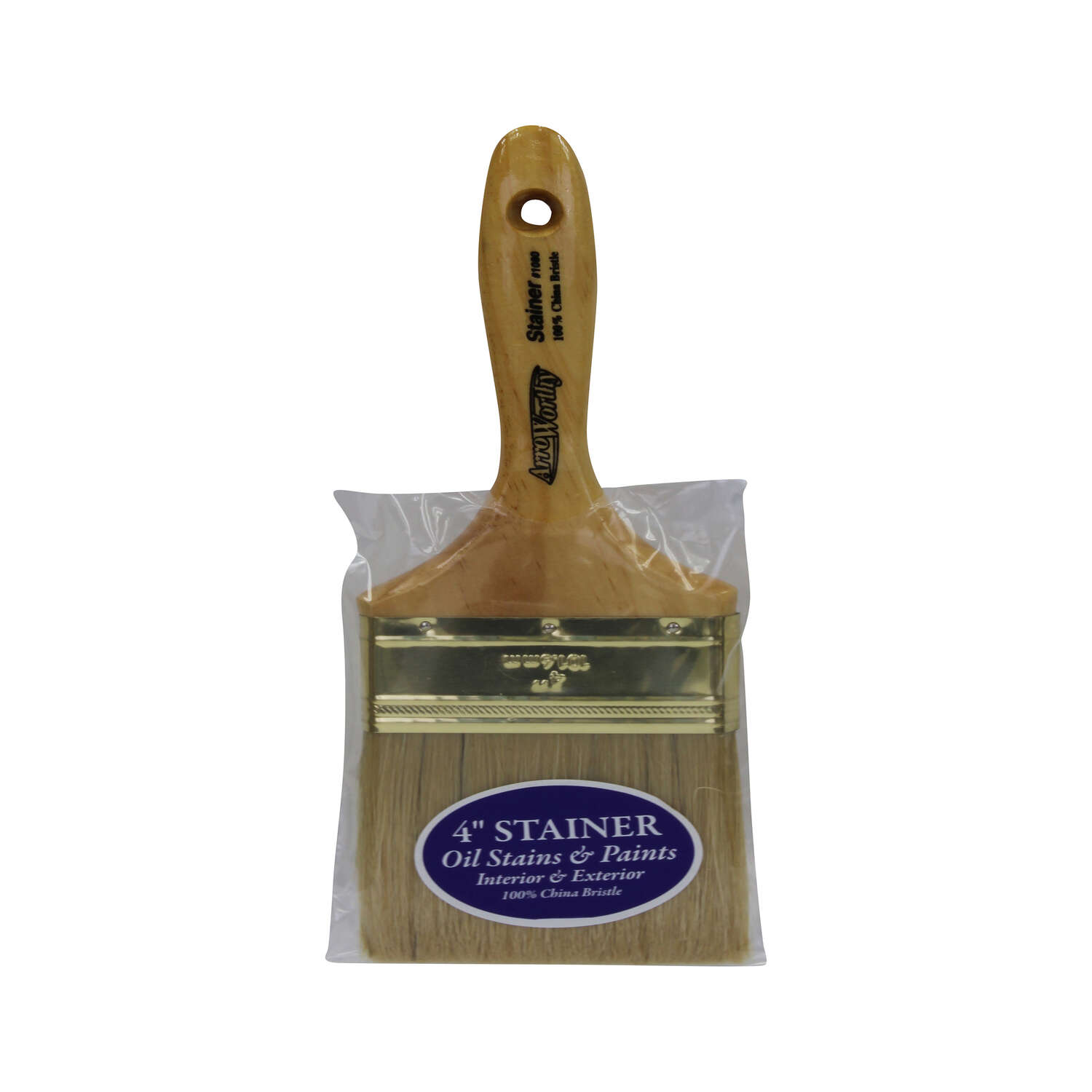Arroworthy  Stainer  4 in. W Chiseled  Stain Brush
