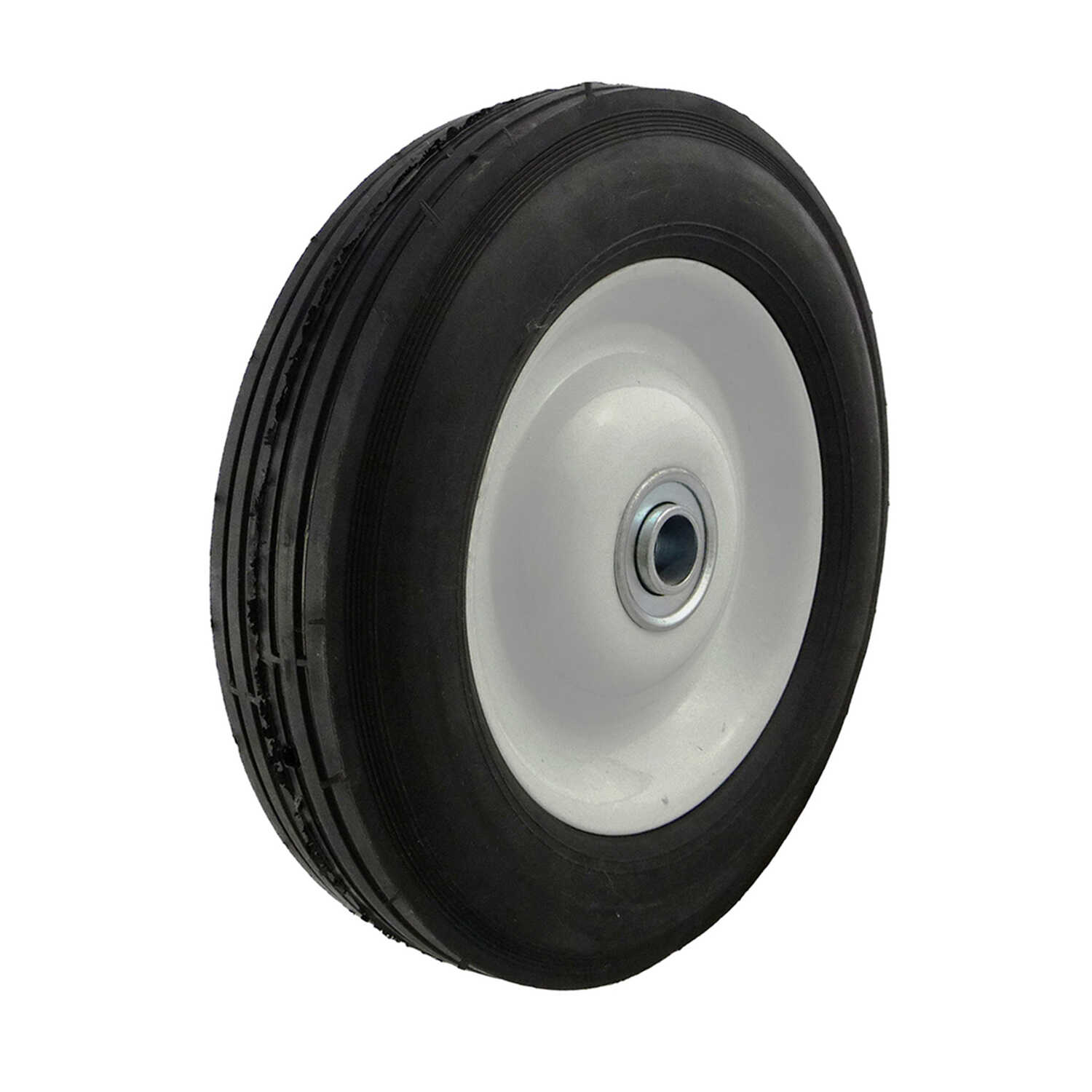 Marathon  8 in. Dia. 225 lb. Offset  Wheelbarrow Tire  Rubber  1 pk