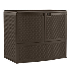 Suncast  Backyard Oasis  Resin  41-1/4 in. H x 48 in. W x 30-1/4 in. D Brown  Storage and Entertaini