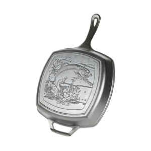 Lodge  Wildlife Series-Rainbow Trout  Cast Iron  Grill Pan  10-1/2 in. Black