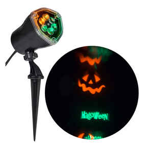 Gemmy  Halloween Lightshow  Lighted Whirl-A-Motion Projector  12 in. H x 13-7/16 in. W x 4 in. L 1 p