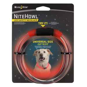 Nite Ize  NiteHowl  Red  Plastic  Dog  Collar