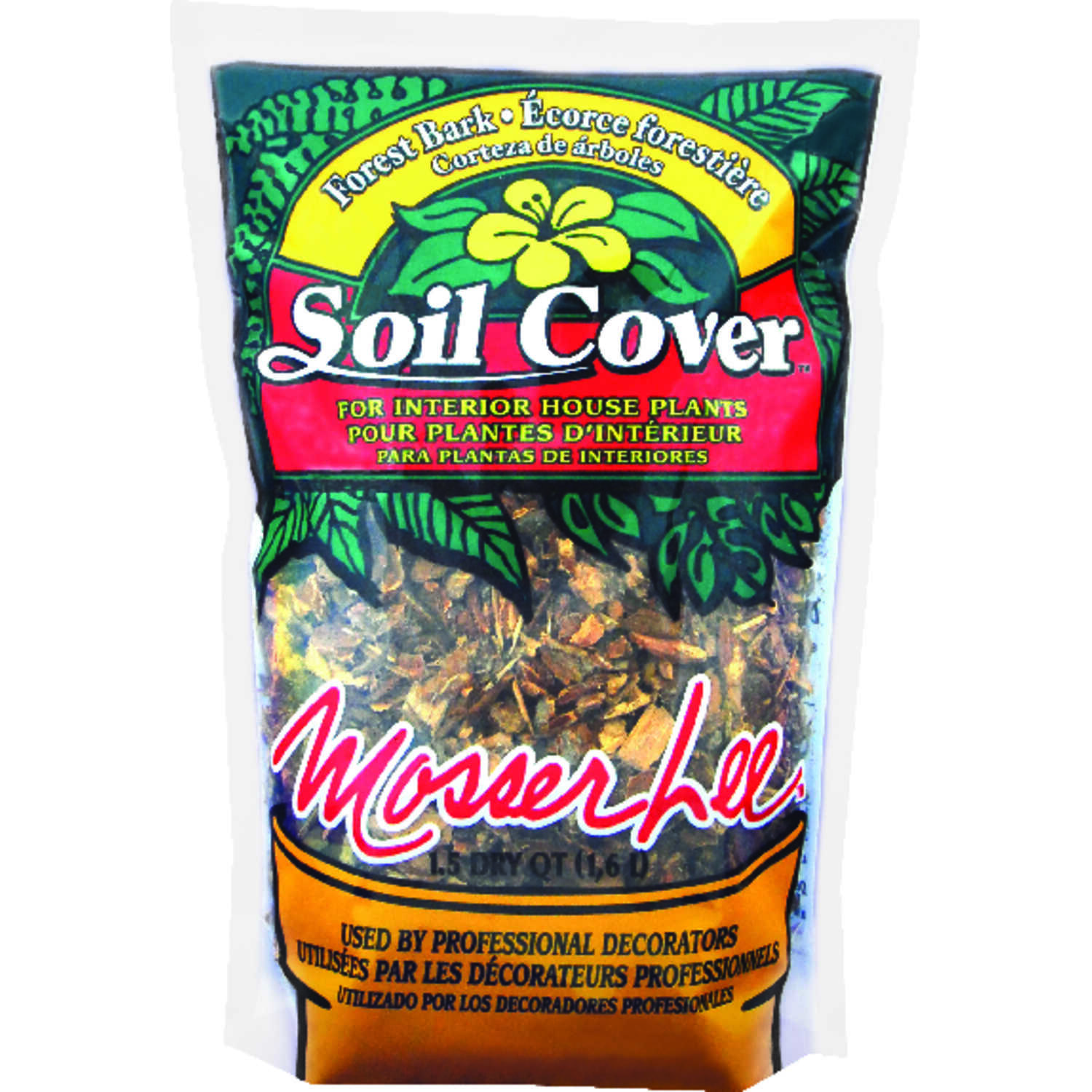 Mosser Lee  Dark Brown  Decorative Soil Cover  1.5 qt. 0.5 sq. ft. Forest Bark