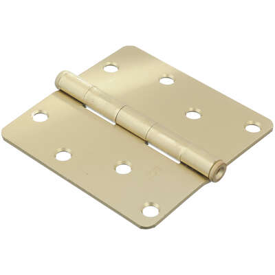 Ace  4 in. L Satin Brass  Residential Door Hinge  1 pk