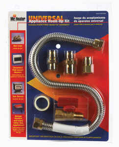 Mr. Heater  18 inch  L Brass  Gas Appliance Hook-Up Kit