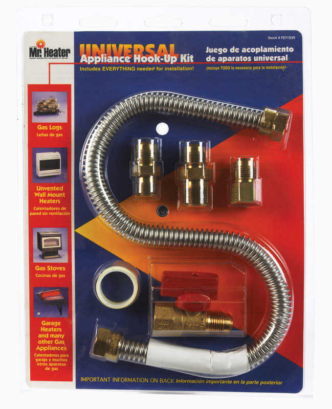 Mr. Heater  18 in. L Brass  Gas Appliance Hook-Up Kit