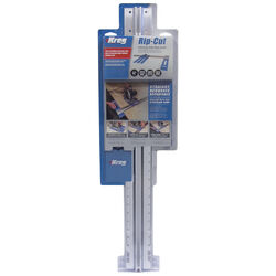 Kreg Rip-Cut Aluminum 30.88 in. L x 2.5 in. H x 8.75 in. W Saw Edge Guide Blue/Silver 1 pc.
