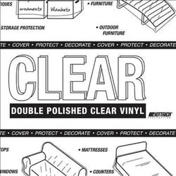 Magic Cover  Yard Goods  .01 in. H x 54 in. W x 1296 in. L Clear  Vinyl  Non-Adhesive Covering