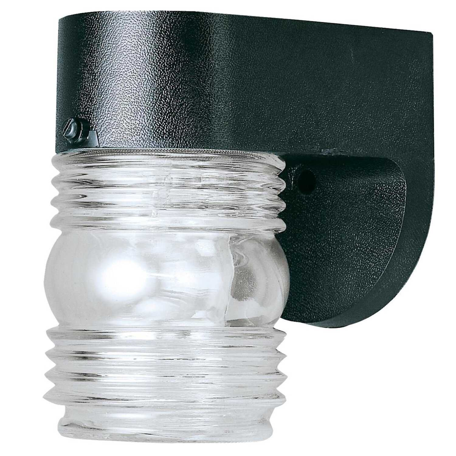 Westinghouse  Gloss  Black  Incandescent  Jelly Jar Light