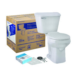 Mansfield  Pro-Fit 4  ADA Compliant 1.6 gal. White  Round  Complete Toilet