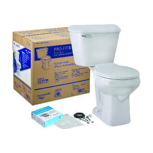 Mansfield  Alto Pro-Fit 4  Round  Complete Toilet  1.6 gal. ADA Compliant White