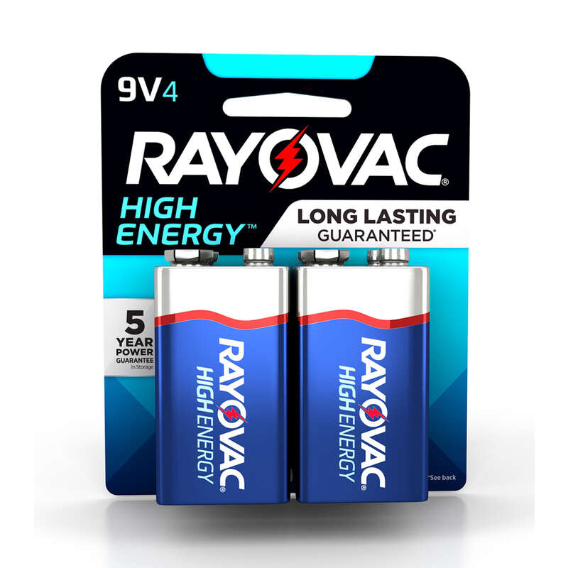 Rayovac  High Energy  9-Volt  Alkaline  Batteries  4 pk Carded