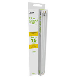Feit Electric  8 watt T5  0.63 in. Dia. x 12 in. L Fluorescent Bulb  Soft White  Linear  3000 K 1 pk