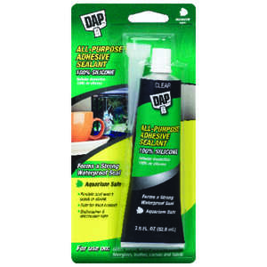 DAP  Aquarium  Clear  Silicone Rubber  Sealant  2.8 oz.