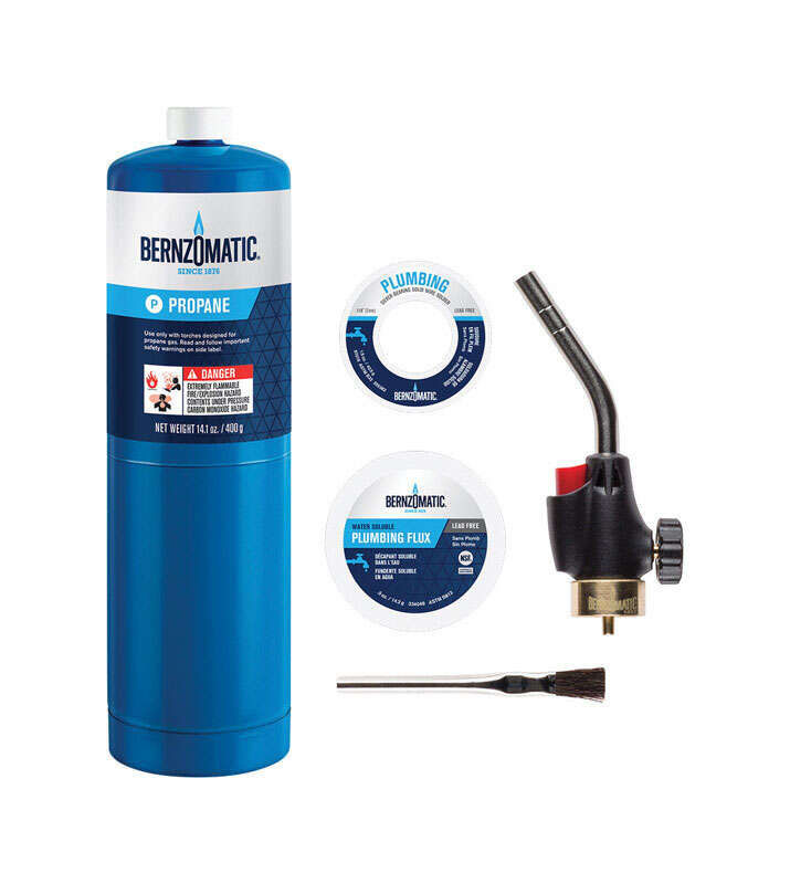 Bernzomatic  Plumbing  14.1 oz. Torch Kit  Steel  1 pc.