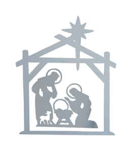 DHI  Nativity  Silhouette  White  Wood