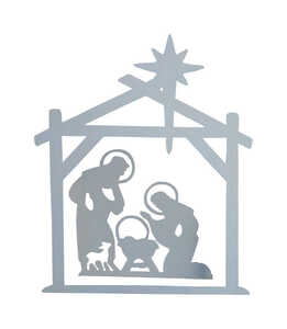 DHI  Nativity  Silhouette  Wood  1 pk White