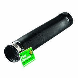 Flex-Drain  8 ft. L x 4 in. Dia. x 4 in. Dia. Poly  Drain Pipe