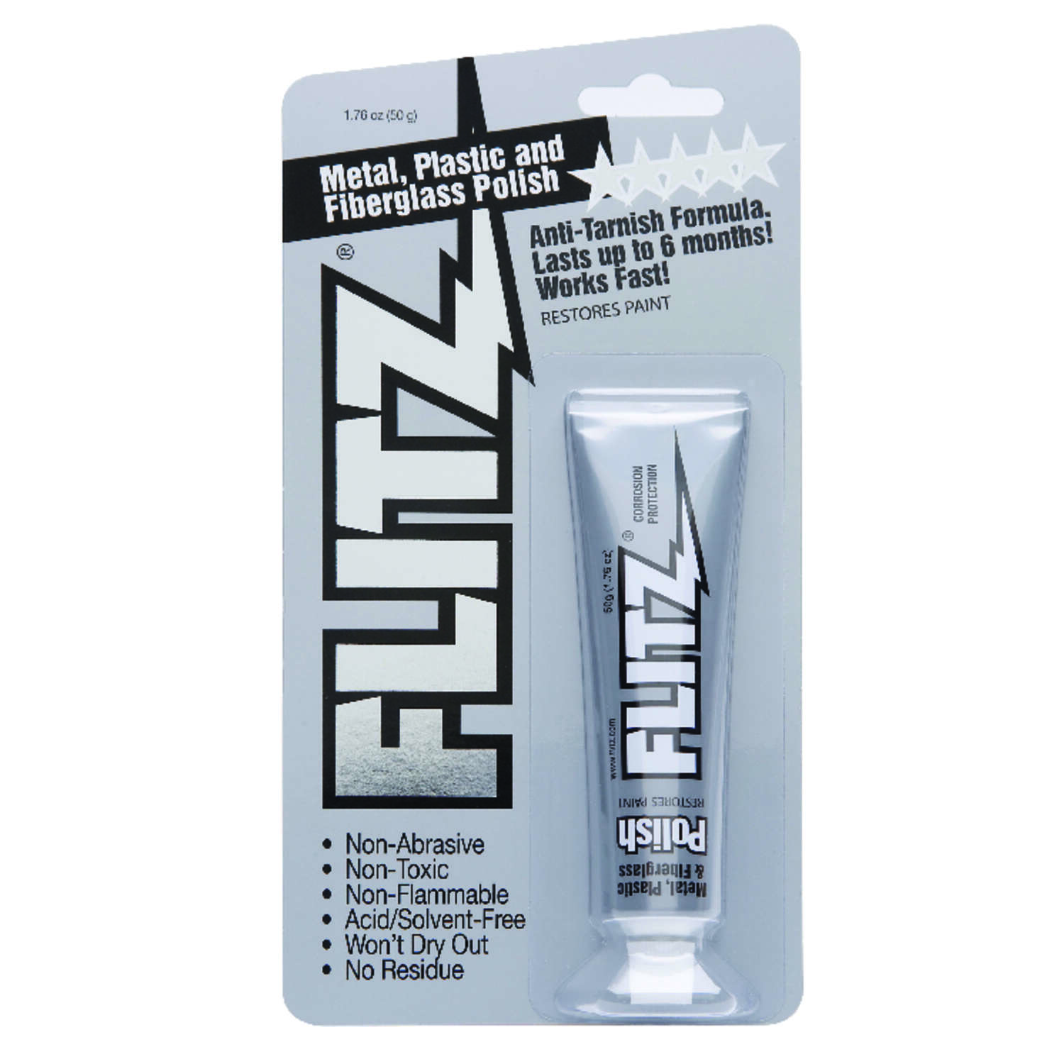 Flitz No Scent Metal Polish 50 gm Cream