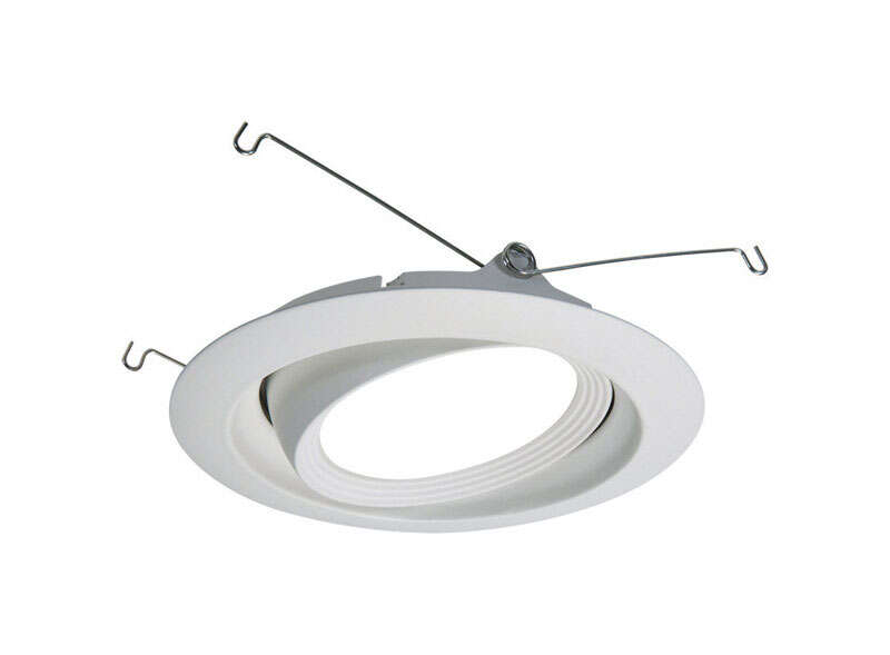 Halo  White  6 in. W Recessed Baffle and Trim