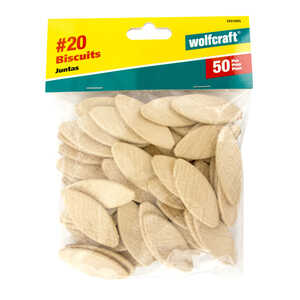 Wolfcraft  Hardwood  No. 20  Biscuits  Ivory  50 pc.
