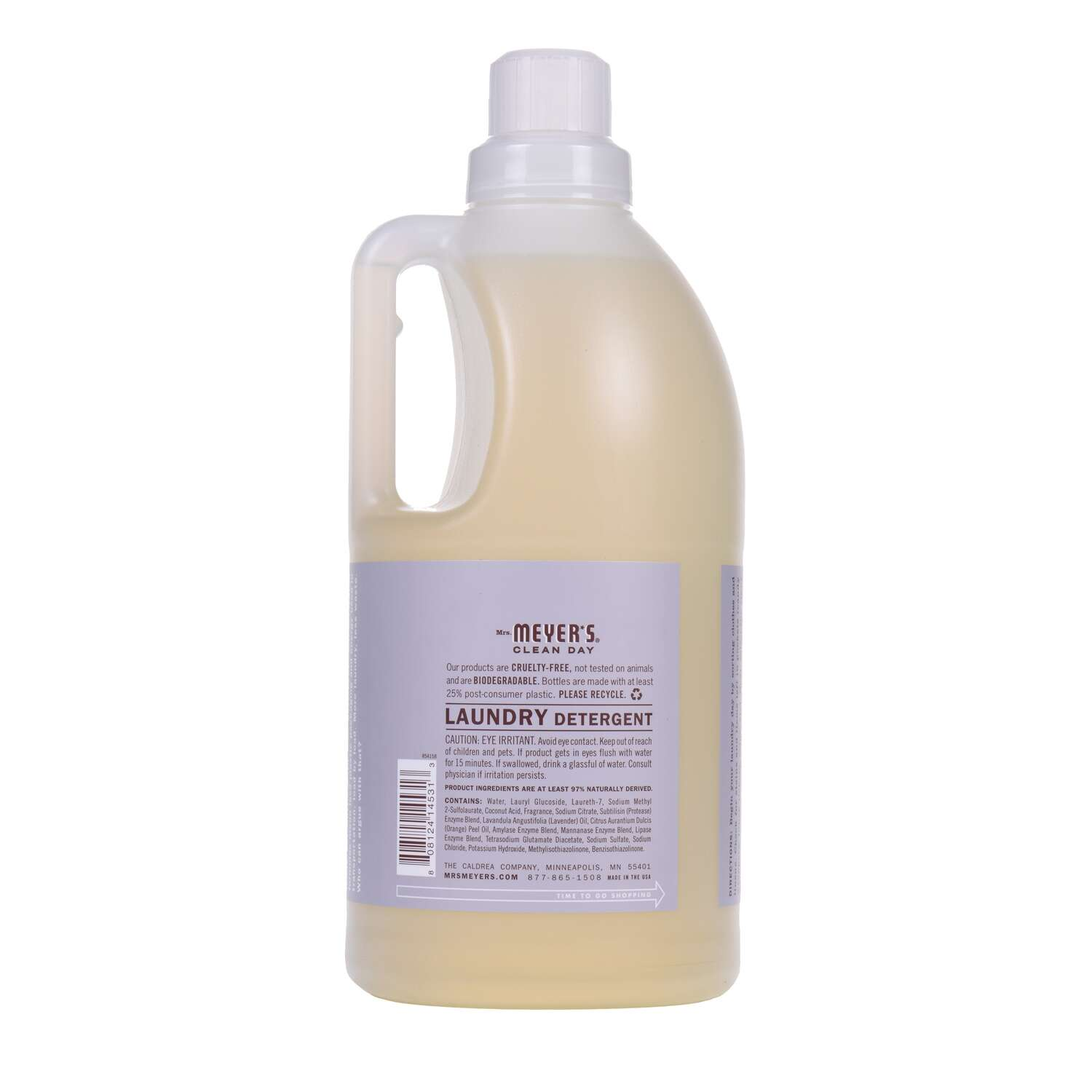 Mrs. Meyer's  Clean Day  Lavender Scent Laundry Detergent  Liquid  64 oz.