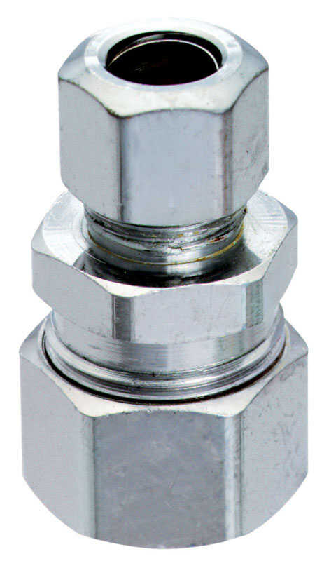 Ace  5/8 in. Compression   x 3/8 in. Dia. Compression  Chrome plated brass  Straight Connector