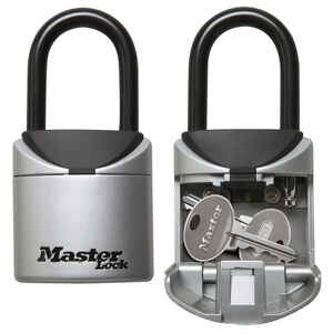 Master Lock  2.75 in. W Vinyl Covered Steel  3-Digit Combination  Portable Lock Box  2 pk