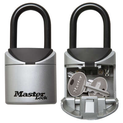 Master Lock  2.75 in. W Vinyl Covered Steel  3-Digit Combination  Lock Box  1 pk