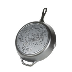 Lodge  Wildlife Series-Brown Bear  Cast Iron  Skillet  12 in. Black