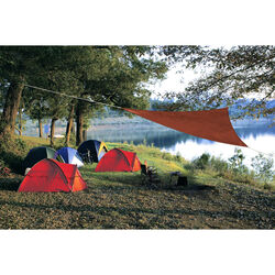 Coolaroo  Ready-To-Hang  Polyethylene  Terra Cotta  Triangle Shade Sail Canopy  120 in. W x 120 in.